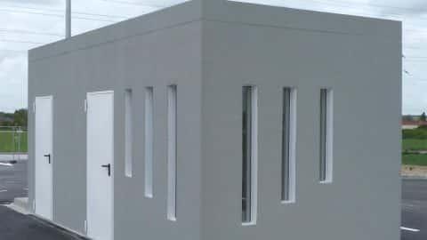 Shelter modulaire en béton préfa
