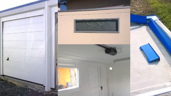 Exemples d'options et éaccessoires pour un garage