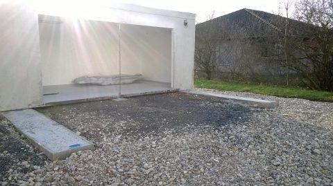 Pose premier garage
